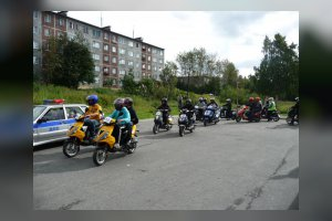 Скутер–триал в Кандалакшской автошколе. Закрытие сезона